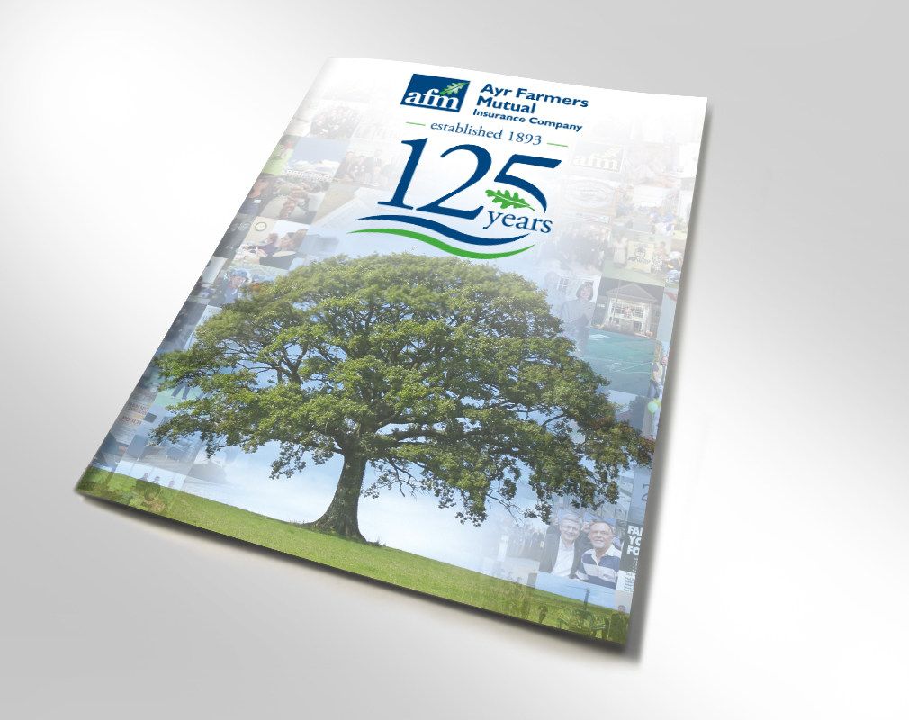 cover of magazine for insurance company 125th anniversary