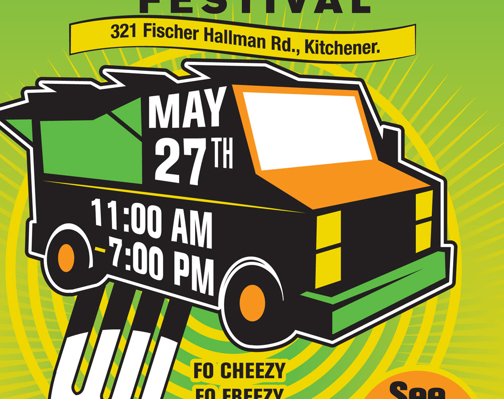 close up of food truck poster