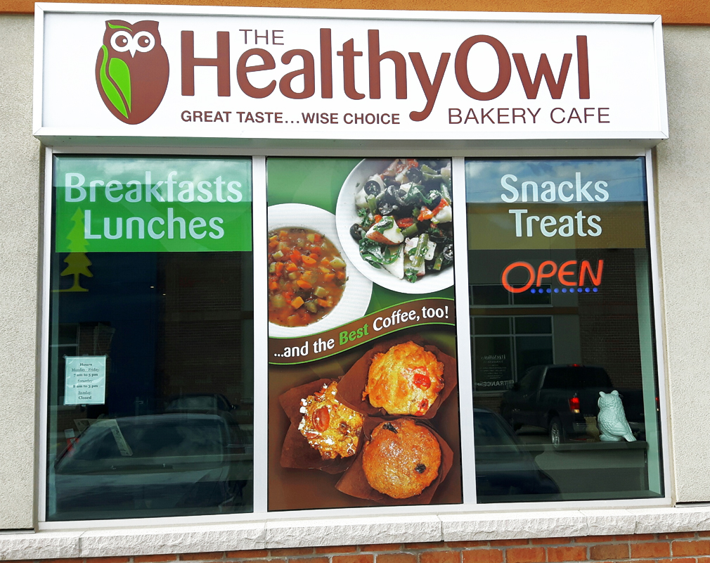 The Healthy Owl Window Graphics And Signage Graeme