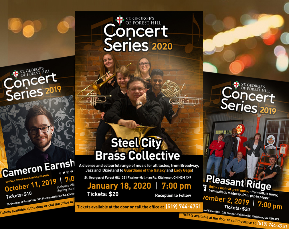 Concert posters for local church