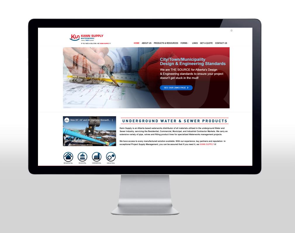 website design for waterworks distributor